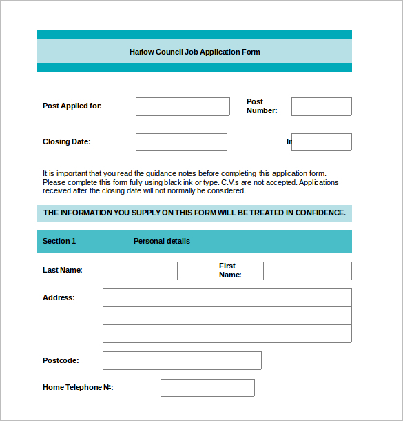 Employment Word Document Template ...