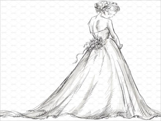 exquisite-hand-drawn-christmas-bride-design