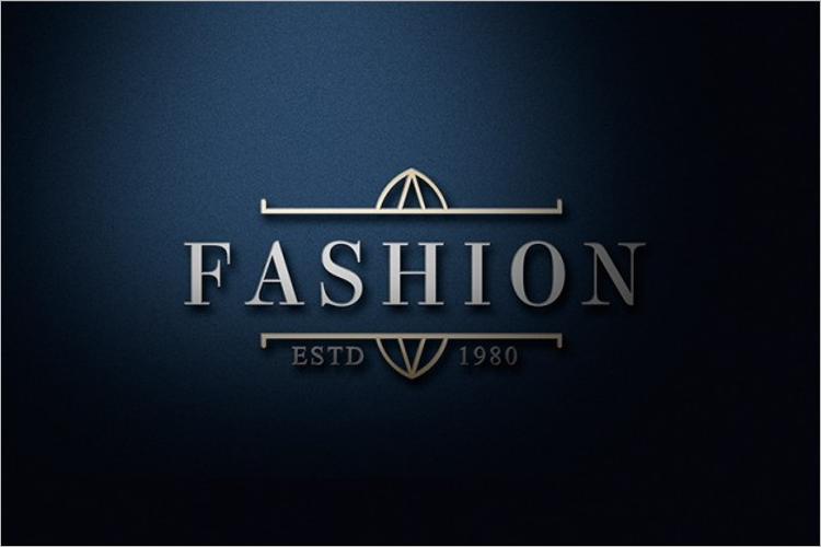 Fashion Logo Mockup Free PSD