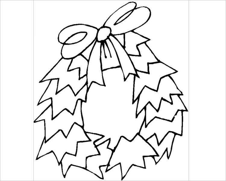 free-christmas-wreath-coloring-page