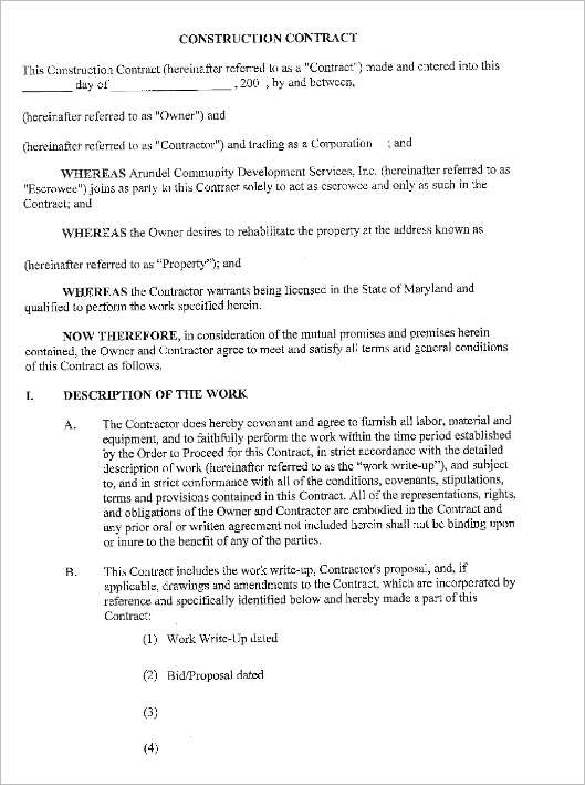 free-construction-contract-form-template