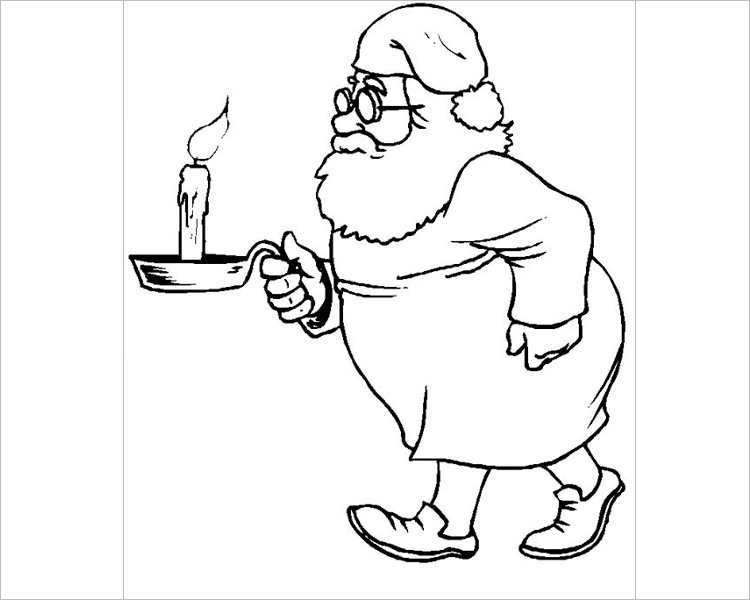 free-santa-ready-for-bed-holding-a-candle