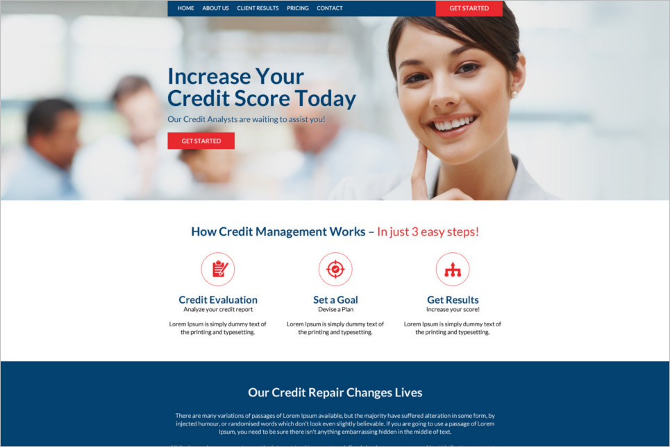 Free landing Page website Template