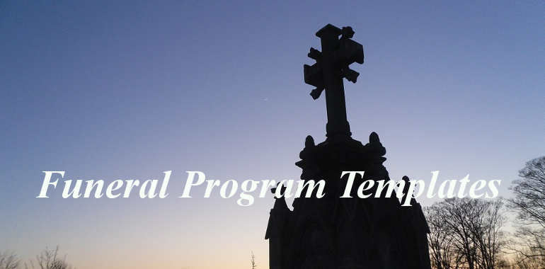 Our Favorite Actually! Free Funeral Program Templates