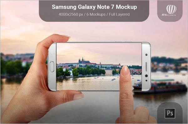 Galaxy Note7 Mobile Mockup Design