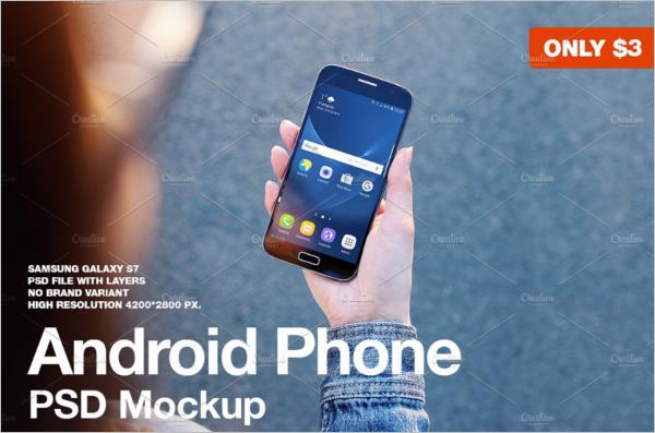 Galaxy S7 Android Mockup Design