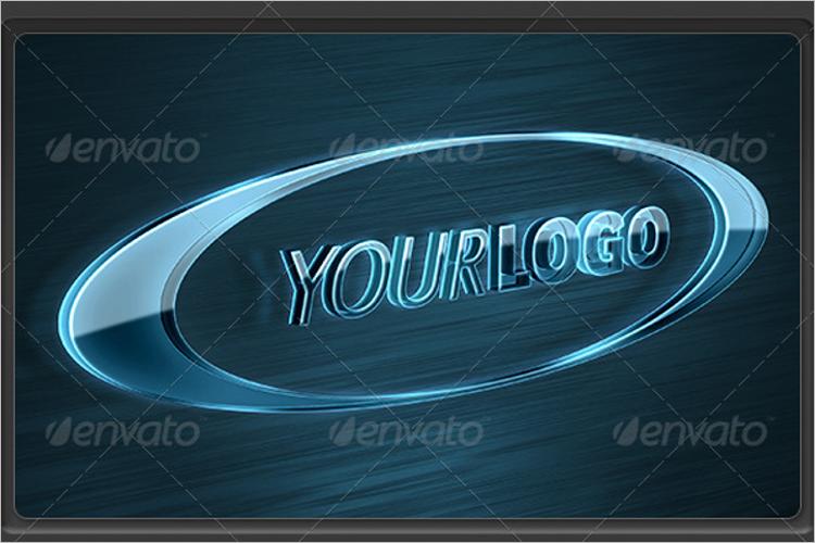 Glass Logo Mockup Design