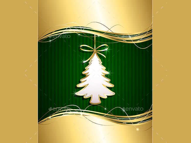golden-christmas-tree-decorstion-idea