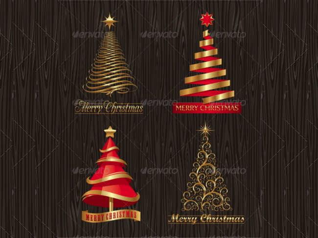 golden-decrative-christmas-tree