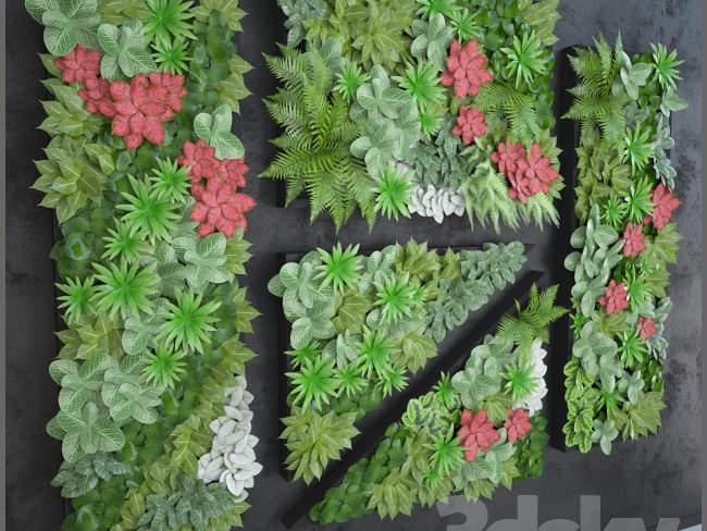 green-wall-3d-type-texture