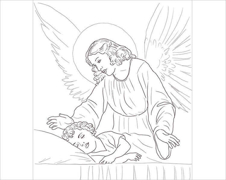 guardian-angel-over-sleeping-child-template