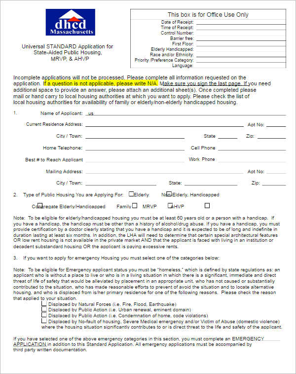 housing-benefit-agreement-form-template