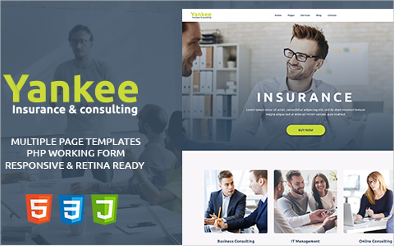 Insurance & Consulting HTML Template