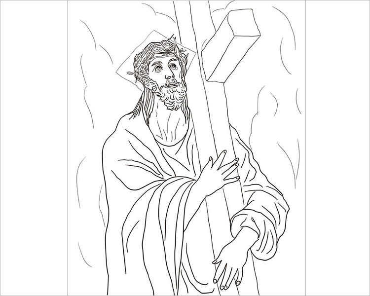 jesus-carries-his-cross-coloring-page-template