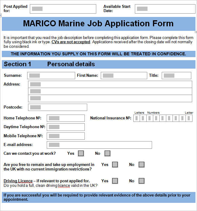 job-applicent-form-template