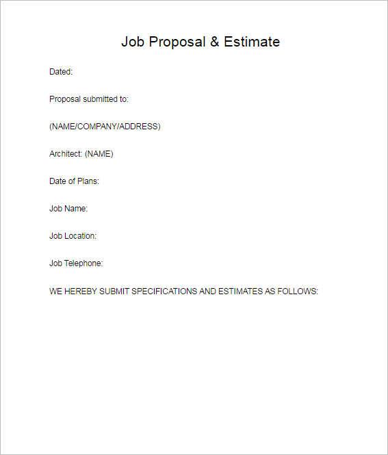job-proposal-estimate-template