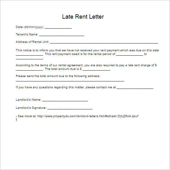 late-rent-letter-form-template