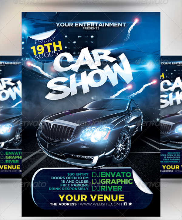 Car Show Flyer Templates - Free Images, Psd Documents | Creative