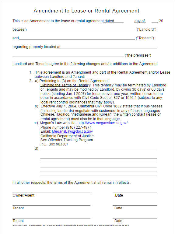 Rental Lease Agreement - 282+ Free Word, Pdf, Excel, Format