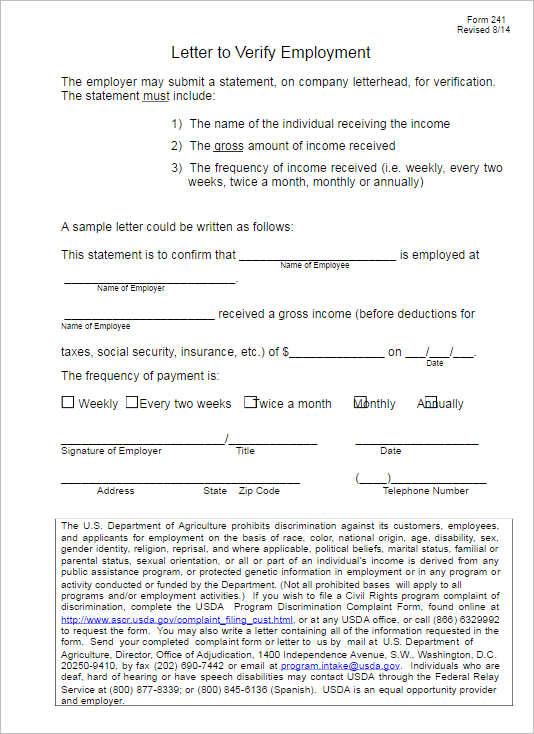 Employment Verification Letter Templates Free & Premium