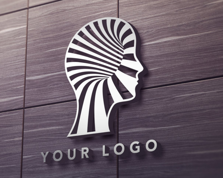 Logo On Wall Mockup Design