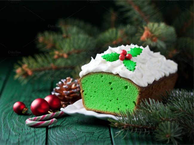 matcha-green-tea-christmas-cake