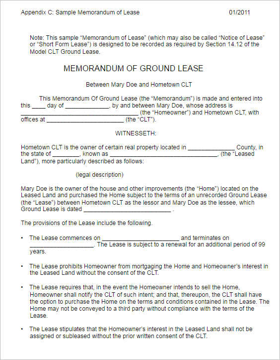 memorandum-of-ground-lease-form