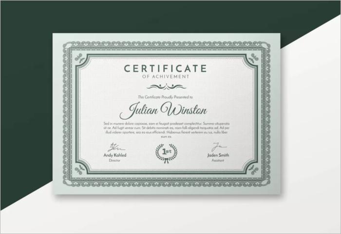 microsoft stock certificate template