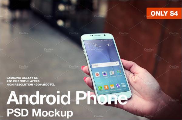 Minimalistic Samsung Mobile Mockup Design