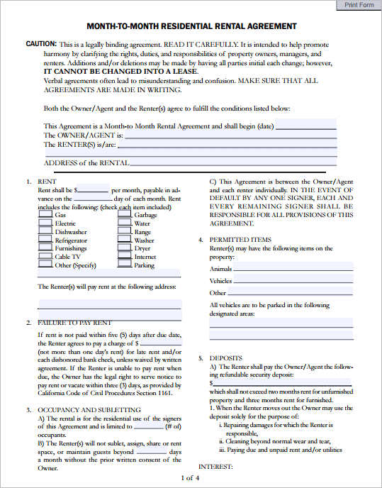 month-to-month-residential-agreement-template