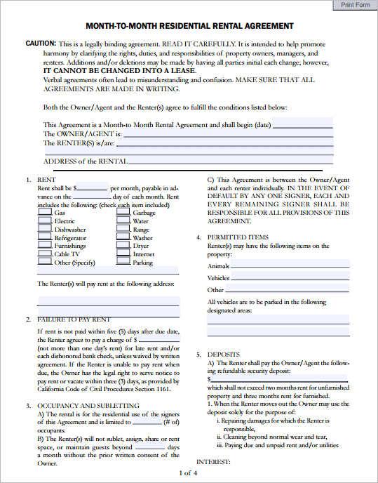 29 rental agreement form free word pdf templates. Black Bedroom Furniture Sets. Home Design Ideas