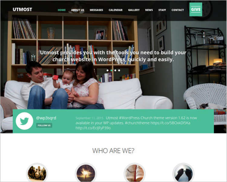 Multimedia Church HTML Template