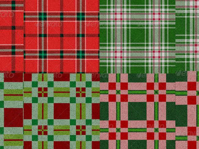 multiple-plaid-christmas-textures