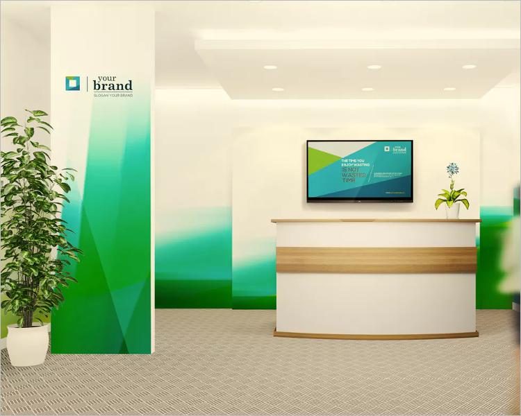 Office Interior Branding Mockup Design