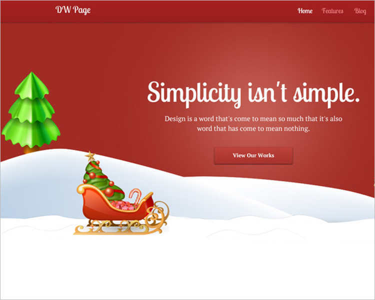 one-page-christmas-website-template