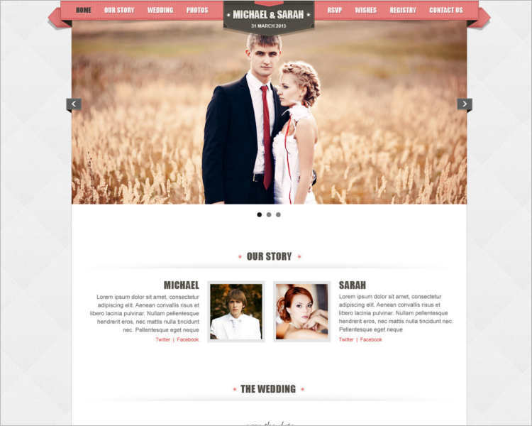 one-page-wedding-event-php-template