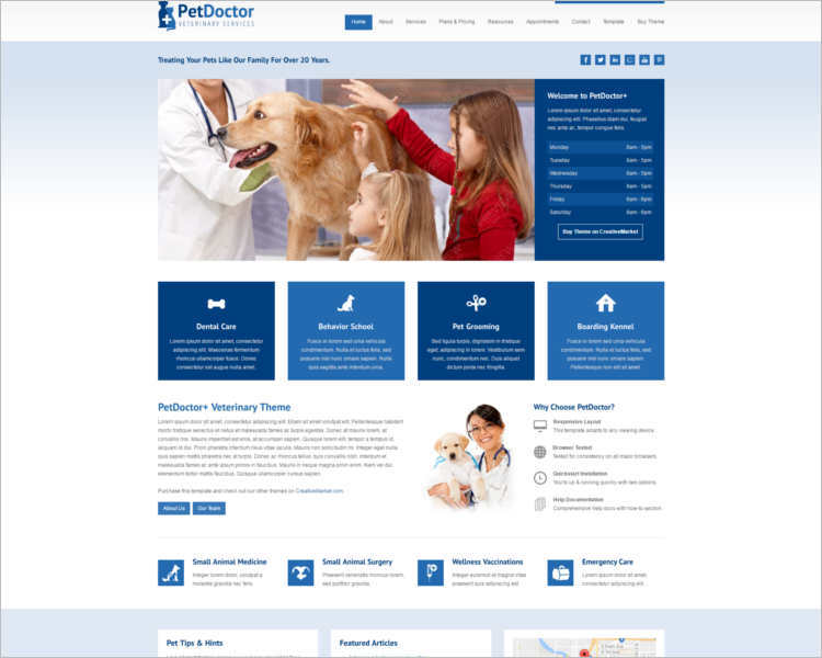 php homepage template - 10 best pet animal php templates free website templates