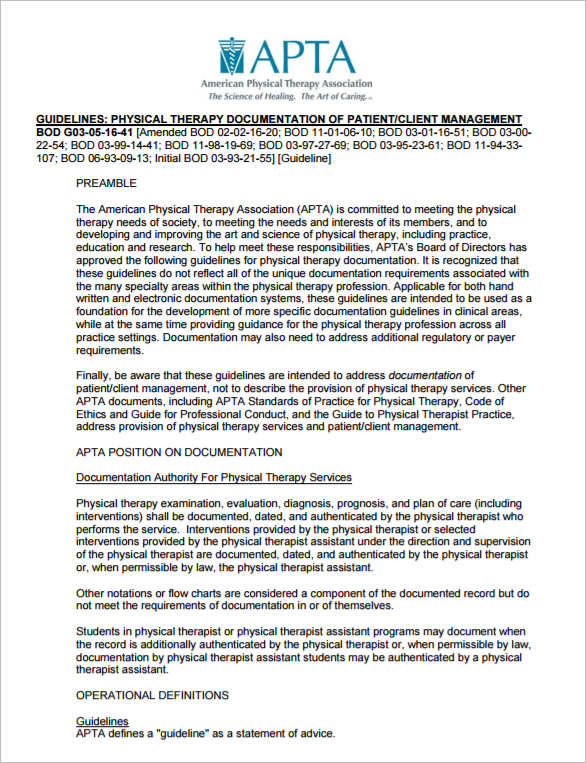 Physical Therapy Documentation Templates  PetitComingoutpolyCo