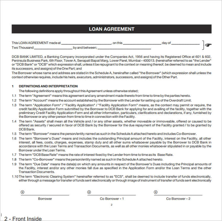 premium-loan-agreement-template-form