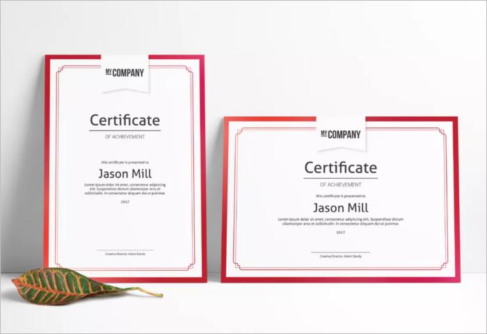 Printing Stock Certificate Template