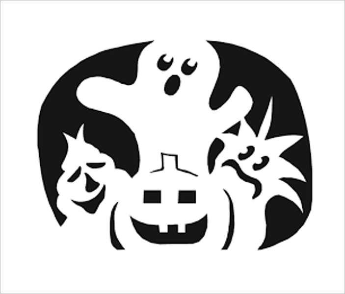 pumpkin-ghost-carving-templates