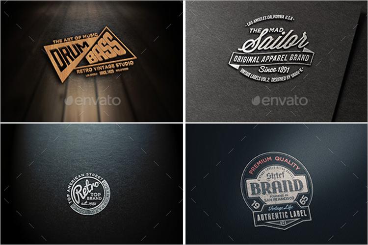 50 Logo Mockups Psd Templates Free Vector Designs