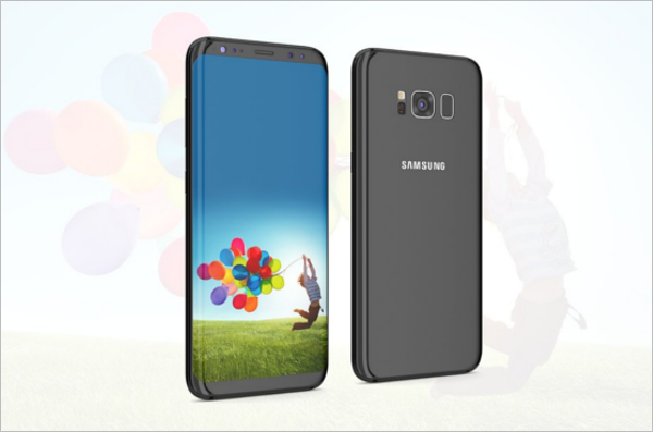 Realistic Samsung Mobile Mockup Design