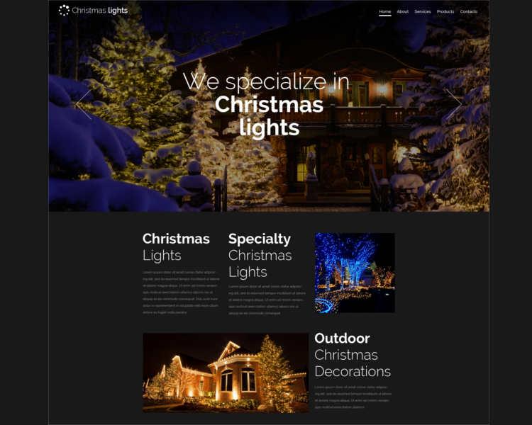 responsive-christmas-website-template