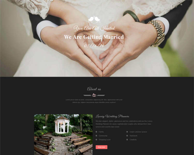 Responsive Event Website Templates