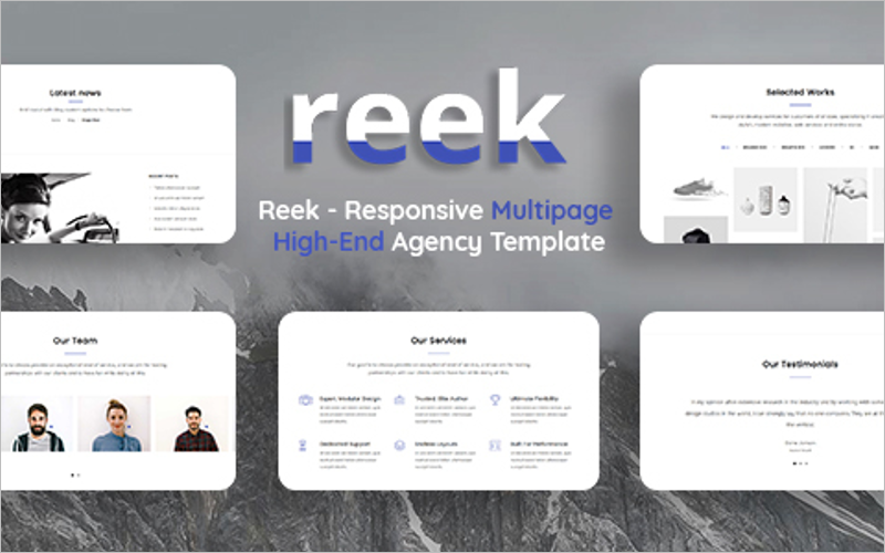 Responsive MultiPage High-End Agency Template
