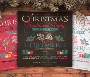 retro-santa-party-flyer