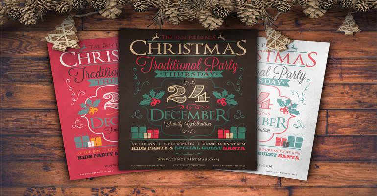 retro-santa-party-flyer