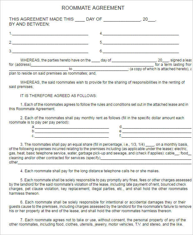roommate-agreement-form-template