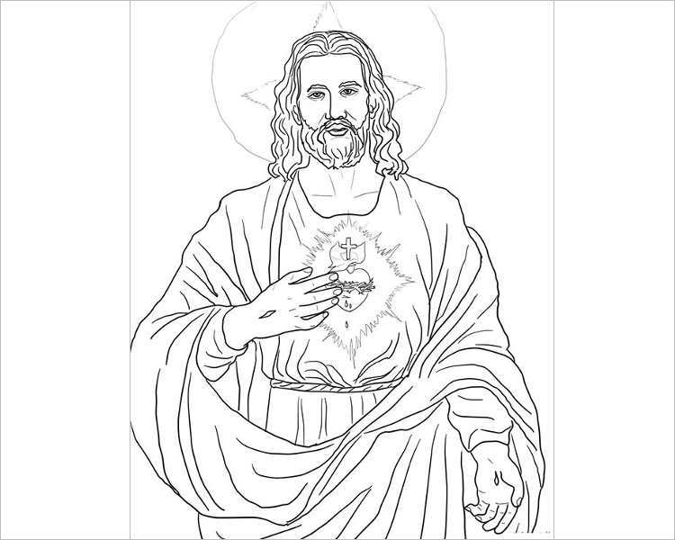sacred-heart-coloring-page-template-of-jesus